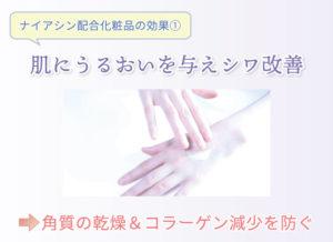 ナイアシン配合化粧品の効果① 肌にうるおいを与えシワ改善 角質の乾燥&コラーゲン減少を防ぐ