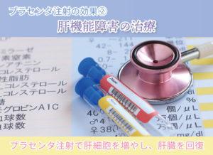プラセンタ注射の効果② 肝機能障害の治療 プラセンタ注射で肝細胞を増やし、肝臓を回復